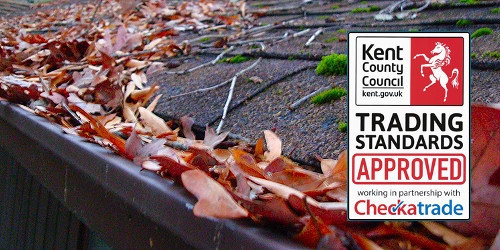 Gutter cleaning in Margate, Broadstairs, Ramsgate and Birchington